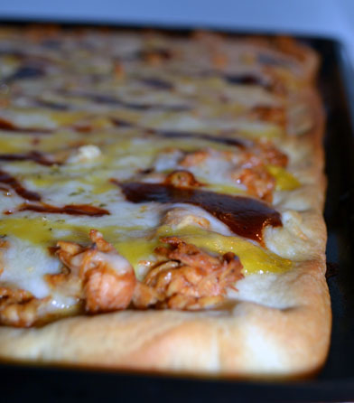 Bbq And Honey Mustard Chicken Pizza Make The First Bite Count