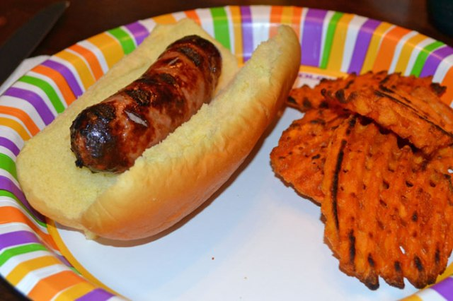 Grilled-Sausage-and-Fries