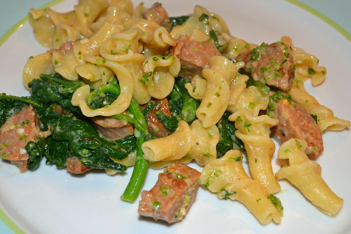Pasta with Sausage and Broccoli Rabe | Make the First Bite Count