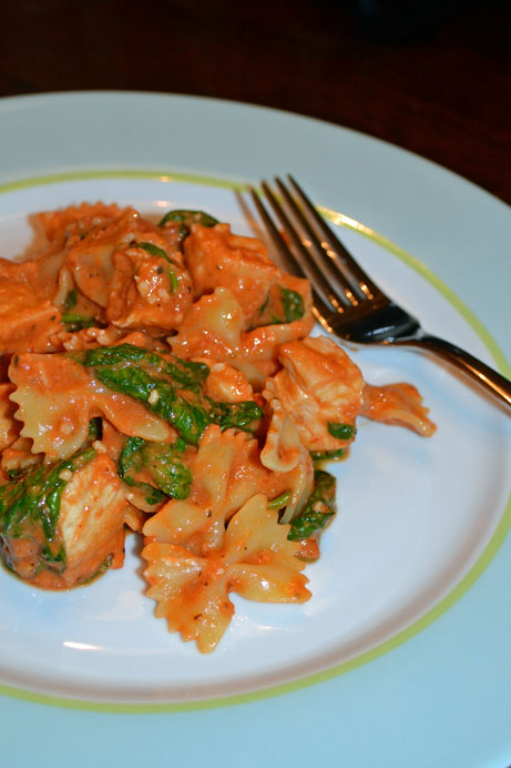 pasta-with-spinach-and-chicken