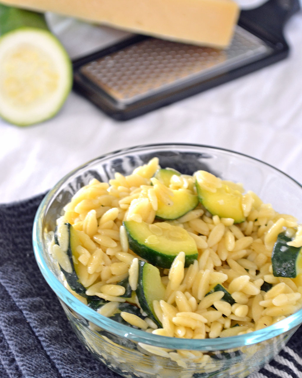 Zucchini and Parmesan Orzo | Make the First Bite Count