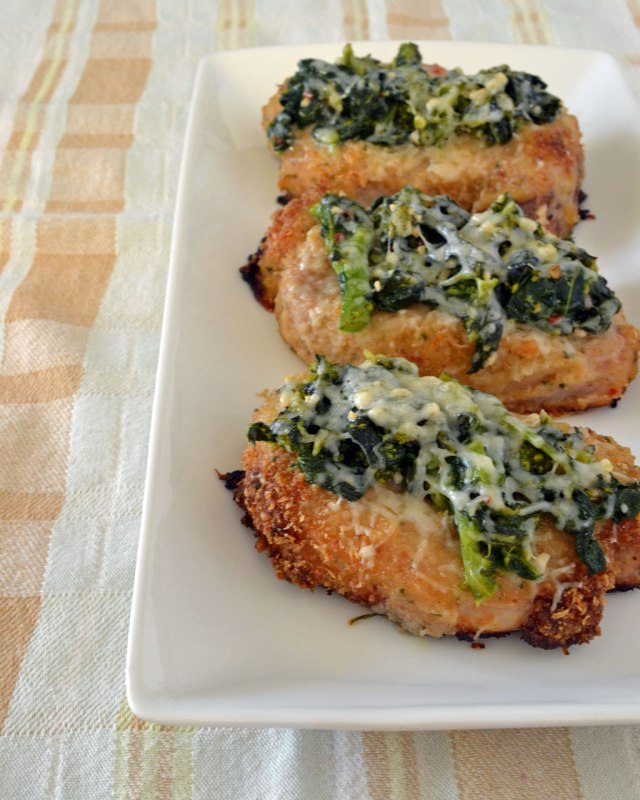 Italian Baked Pork Chops topped with Broccoli Rabe and Fontina | Make ...
